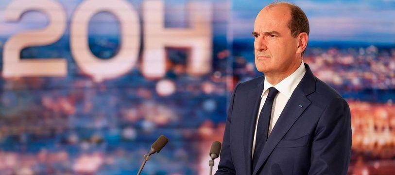 Le Premier ministre Jean Castex au JT de 20 Heures de TF1, le 21 octobre 2021.