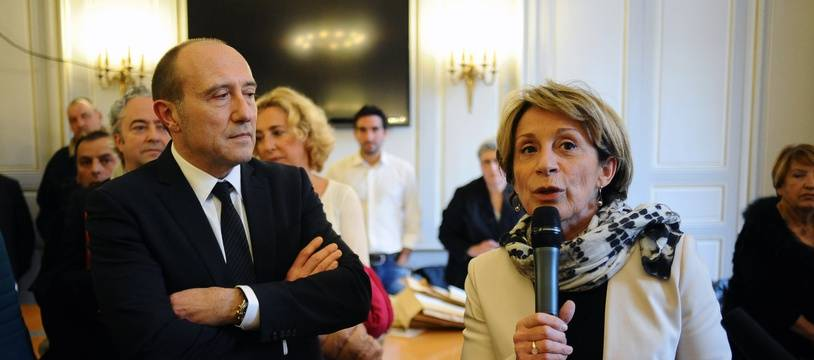 Pierre Mardegan et  Brigitte Bareges au soir de leur élection en binôme au conseil départemental du Tarn-et-Garonne, en 2015, sont aujourd'hui opposés lors des municipales de Montauban.