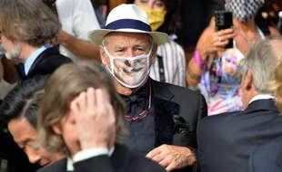 Bill Murray à Cannes avant de monter les marches pour le film The French Dispatch