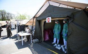 L'élément militaire de réanimation du Service de santé des armées (EMR-SSA), installé à Mulhouse.