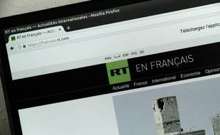 La page d'accueil de la version française de Russia Today (RT).