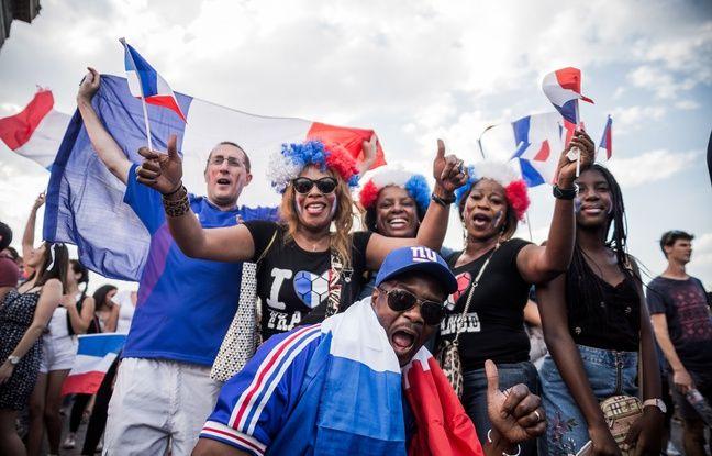 9f999f2ca68 Les Francais fetent la victoire de l equipe de France face a la Croatie