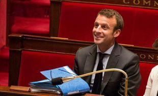 Emmanuel Macron, ministre français de l'Economie, lors d'un débat à l'Assemblée nationale à Paris le 12 mai 2016