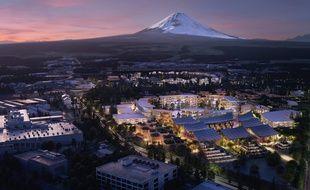 Image de synthèse du futur quartier connecté voulu par Toyota.