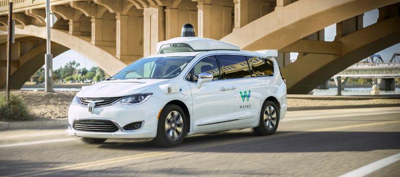 Une voiture autonome de Waymo, la filiale d'Alphabet.
