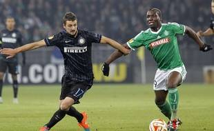 Florentin Pogba a eu l'opportunité d'affronter l'Inter Milan de Zdravko Kuzmanovic cette saison en Ligue Europa.