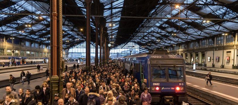 La gare de Lyon (Paris), le 3 avril 2018, lors de la grève SNCF.
