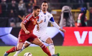 Eden Hazard sous le maillot de la Belgique, face à Israël, le 13 octobre 2015.