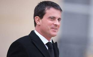 Manuel Valls quitte l'Elysée le 27 novembre 2013.