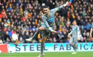 Rémy Cabella a inscrit son premier but sous les couleurs de Newcastle face à Hull City, le 31 janvier 2015.