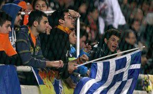Des supporters de l'Apoel Nicosie, le 5 décembre 2011 lors d'un match de Ligue des champions.