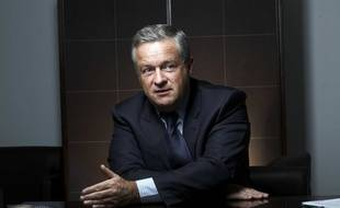 Jean-Marie Messier en rendez-vous et en entetien dans son bureau. Paris, FRANCE - 12/01/2009.