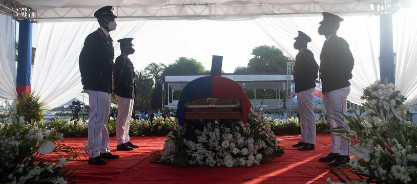 Funérailles nationales de Jovenel Moise à Cap-Haïtien le 23 juillet 2021.