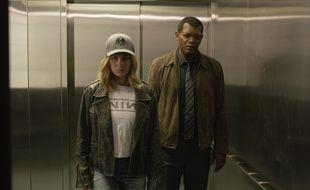 Brie Larson et Samuel L. Jackson dans Captain Marvel de Anna Boden et Ryan Fleck