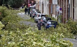 Une rue de Montauban (Tarn-et-Garonne) le 1er septembre 2015, quelques heures après de très violents orages.
