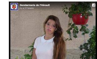 L'avis de recherche lancé par la gendarmerie de l'Hérault.
