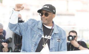 Le réalisateur américain Spike Lee à Cannes.
