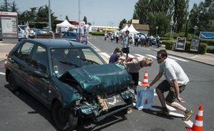 Un accident de la route, heureusement sans conséquence pour les conducteurs.