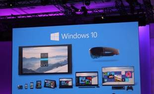 Windows 10 à la conférence Build de Microsoft.