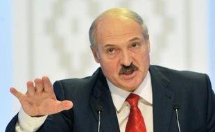 Le président bélarusse Alexandre Loukachenko, le 20 décembre 2010 à Minsk