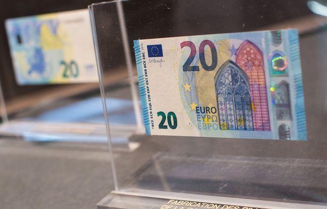 Le nouveau billet de 20 euros en circulation ce mercredi.
