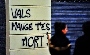 Un mur taggé le 27 octobre 2014 à Nantes