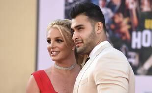 Britney Spears et Sam Asghari, à Los Angeles le 22 juillet 2019.