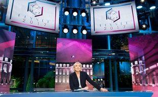 Marine Le Pen, invitée de l'émission spéciale «Elysée 2017» sur TF1
