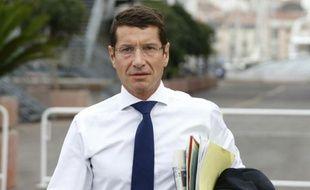 Le maire LR de Cannes David Lisnard le 27 septembre 2013 à Cannes