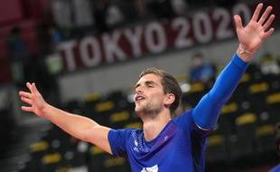 Trévor Clévenot lors de la finale des Jeux olympiques remportée face aux Russes, le 7 août 2021 à Tokyo.