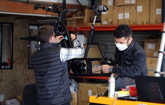 Les triporteurs professionnels de VUF Bikes sont désormais assemblés dans un entrepôt à Bègles, près de Bordeaux