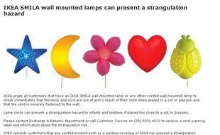 Ikea mise en garde contre une lampe apr s le d c s d un for Ikea heures de garde d enfants