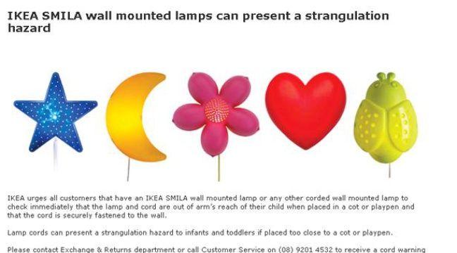 Ikea Mise En Garde Contre Une Lampe Après Le Décès D Un Enfant