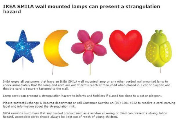 ikea mise en garde contre une lampe aprs le dcs dun enfant - Applique Chambre Ikea