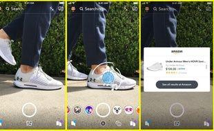 La «visual search» permettra, via Snapchat, d'acheter en quelques clics un objet ou accessoire sur Amazon.