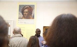 """Lilian Thuram présente l'exposition """"Imaginaires et représentations de l'Orient."""
