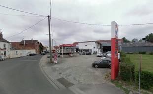 La station Total, rue de l'Aéroport, à Cucq, dans le Pas-de-Calais.