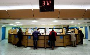 Marseille le 19 avril 2012 - La caisse des allocations familiales  ( CAF ) du chemin de Gibbes