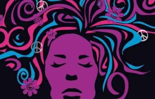 Esthétique gypsy pour l'affiche du musical Hair à l'auditorium St-Germain