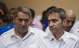 Jean Furet et Bruno Odos lors d'une audience le 4 février 2014 à Higuey en République dominicaine