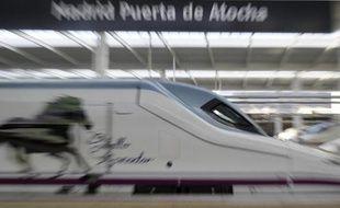 Un train à grande vitesse espagnol