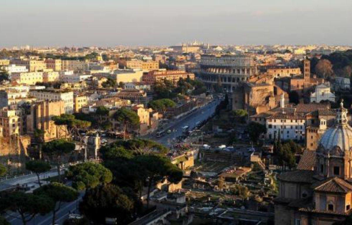 Vue générale sur le Colisée et le forum antique à Rome, le 28 décembre 2011 – Alberto Pizzoli AFP
