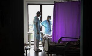 L'unité des maladies infectieuses à l'hôpital de Gonesse, le 22 octobre 2020.
