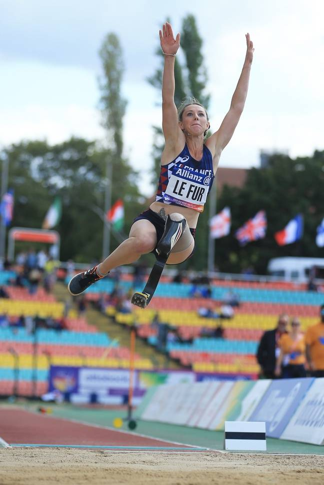 Marie-Amélie Le Fur a porté le record du monde de la longueur à 6,01m en 2018.