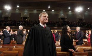 John Roberts, le président de la Cour suprême, au Capitole, à Washington, le 28 janvier 2014.