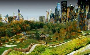 Roland Castro a imaginé le parc de la Courneuve totalement transformé à la manière de Central Park à New York.