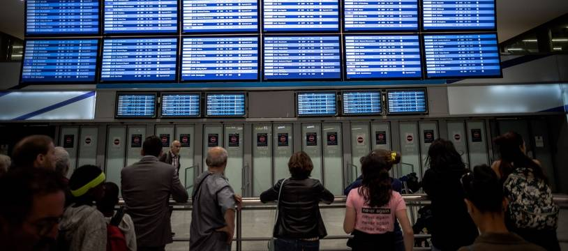 L'aéroport de Roissy -Charles de Gaulle.