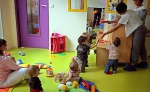 Des enfants dans une crèche (image d'illustration).