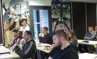 Lyon, le 6 octobre 2015 Reportage à l'école des agents de football qui a fait sa seconde rentrée à Lyon.