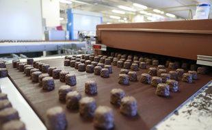 Strasbourg le 01 octobre 2014. Lignes de productions de l'usine Suchard du groupe Mondelez, dans le quartier de la Meinau.